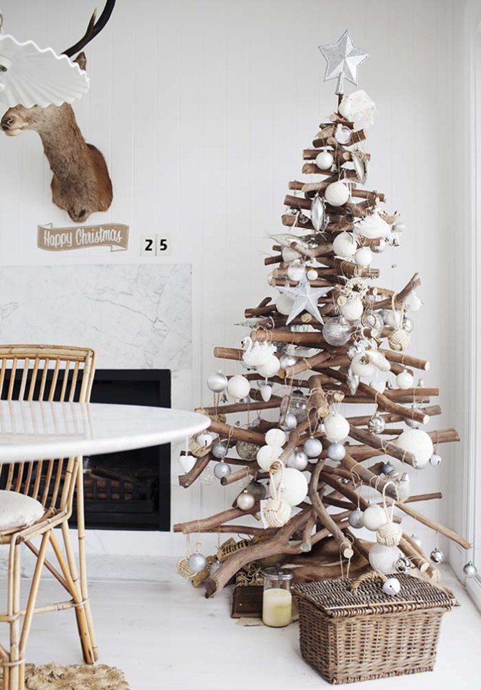 Diy Christmas Tree of Stacked Branches Dwellingdecor