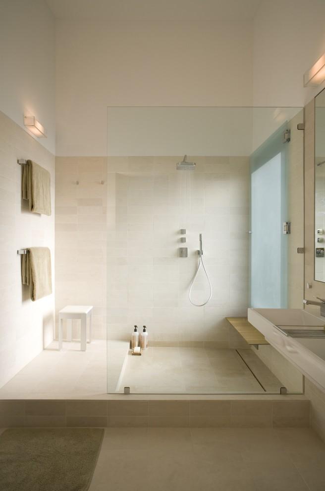 Minimalist Modern Master Bathroom