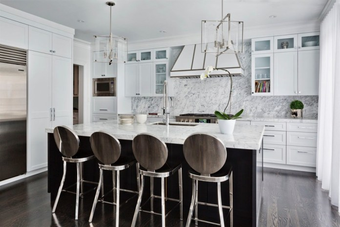Transitional Enclosed Galley KItchen Dwellingdecor