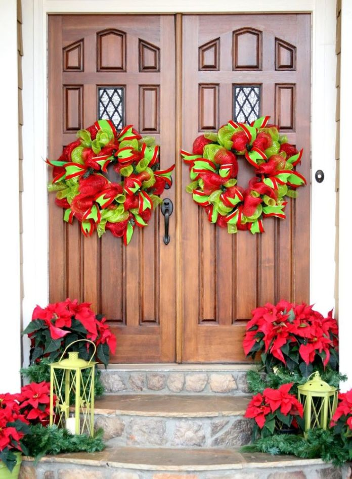 Wreath Front Door Christmas Decoration Dwellingdecor