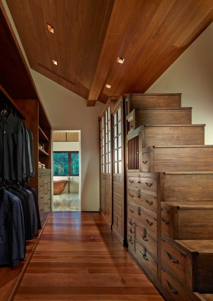 Asian Nice Stair Step Idea For Under Steep Roof