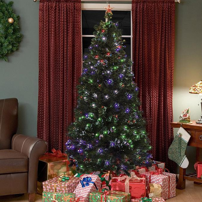 Christmas Tree with LED Multicolor Lights Dwellingdecor