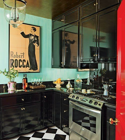 Eclectic Kitchen With Homestead Panel High Gloss Cabinet Finish Dwellingdecor