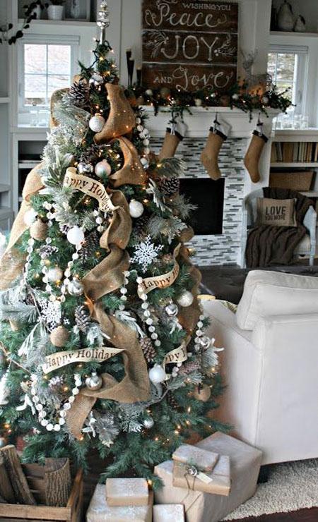 Rustic Christmas Trees dwellingdecor