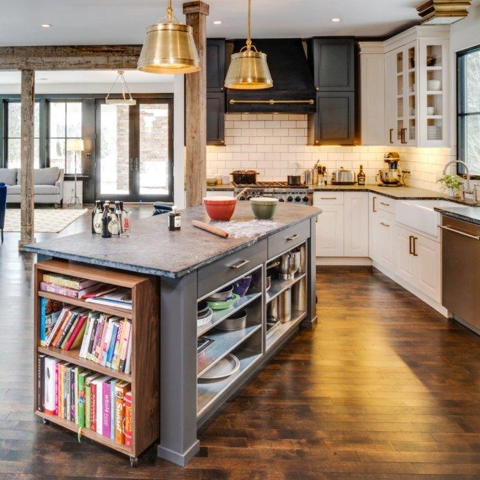 Open Cupboards Kitchen Island dwellingdecor