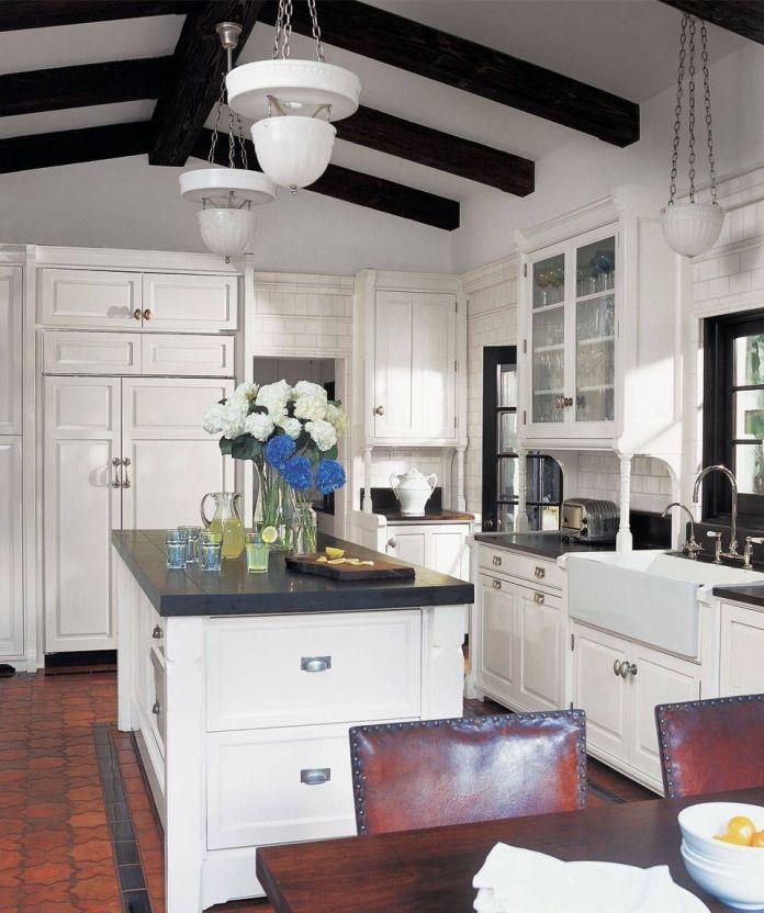 gray & White Kitchen Island Dwellingdecor
