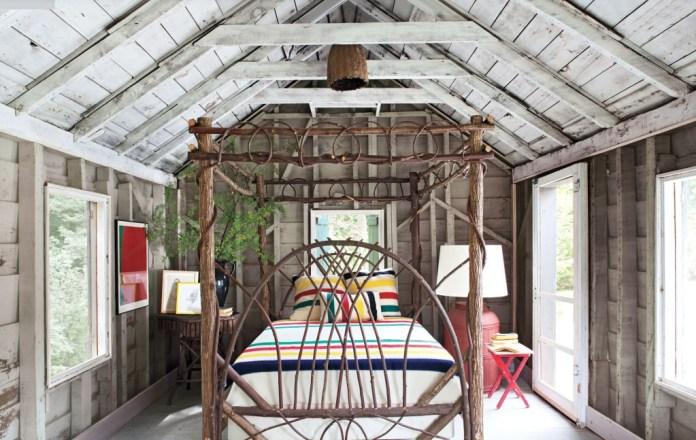 Craftsman Bedroom Design With Natural Bed dwellingdecor
