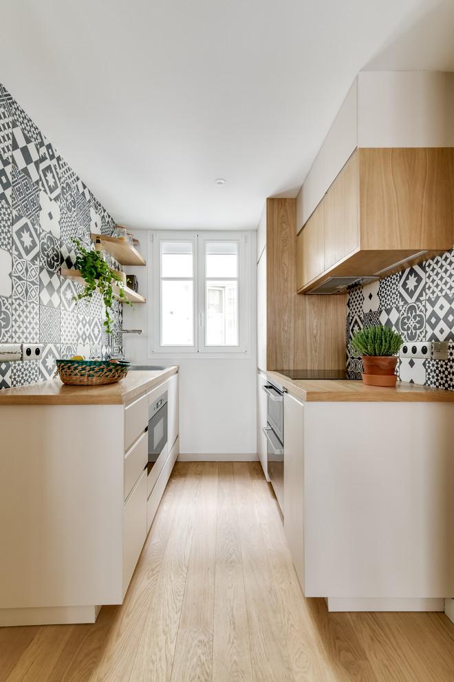 Scandinavian galley Kitchen Design
