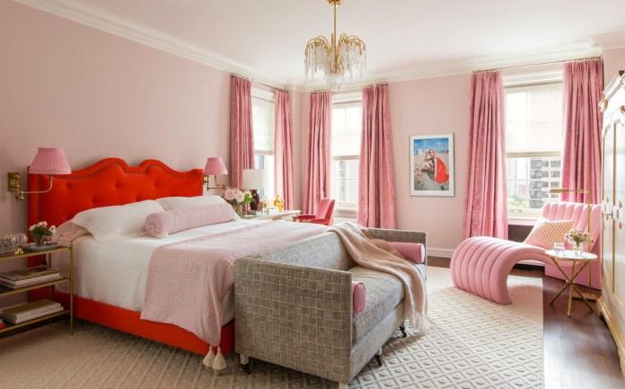 Traditional Large Elegant Dark Wood Floor Bedroom
