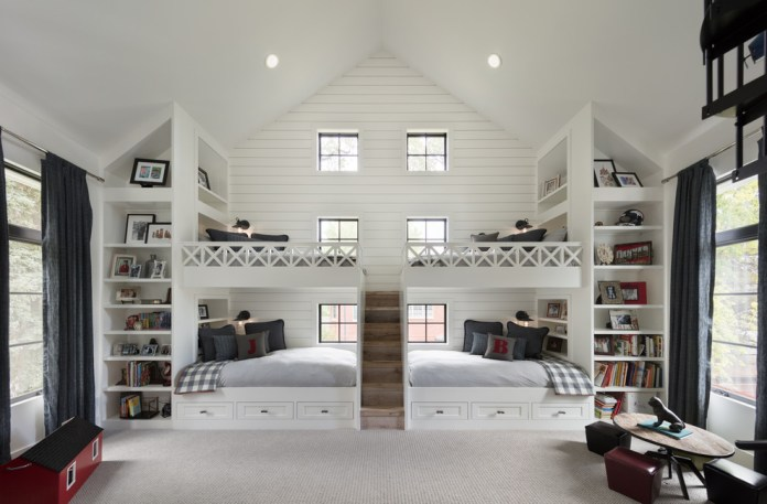 Farmhouse Style Kids Bedroom with white walls Dwellingdecor