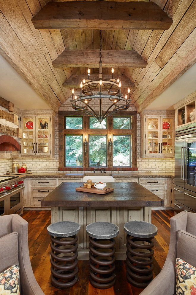 Rustic Kitchen With An Island Dwellingdecor