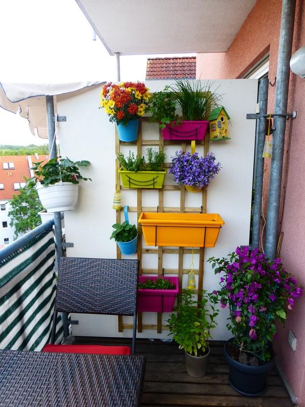 Balcony With Hang Planters Dwellingdecor