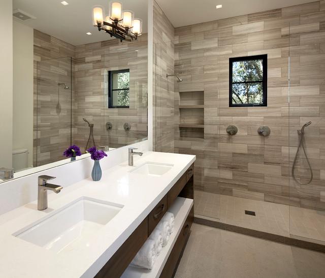 Modern Luxury with a View mediterranean-bathroom