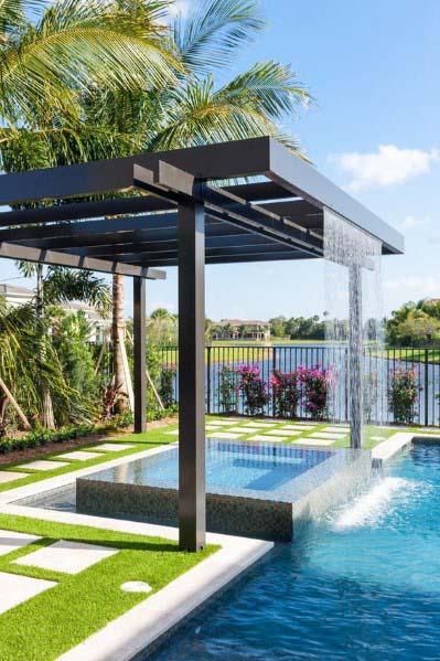 Pool Waterfall Ideas (25)