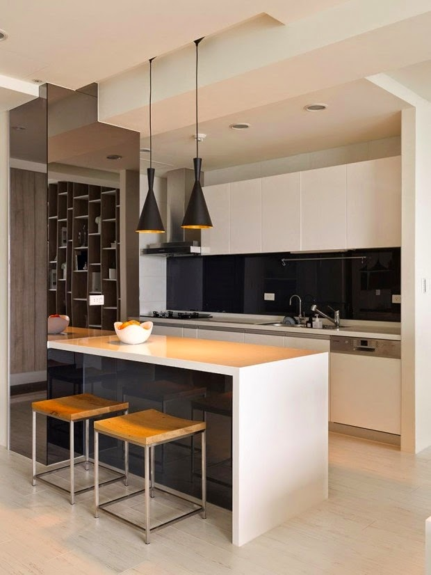 Open kitchens through a bar or island1