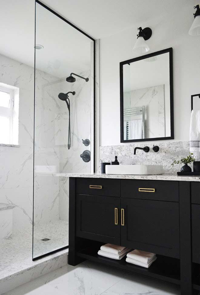 More elegant furniture and marble in dry areas and in the stall