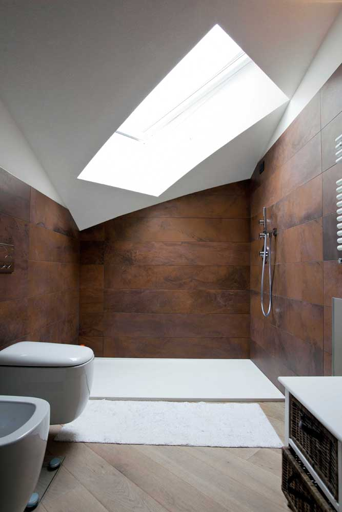 08. Another option of coating made with corten steel to decorate the bathroom.