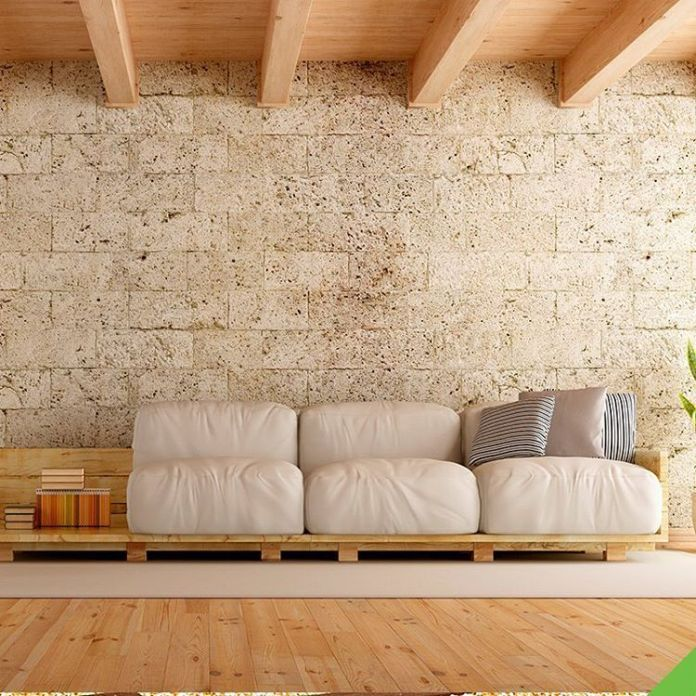 19. You can also make a large pallet sofa model for the living room