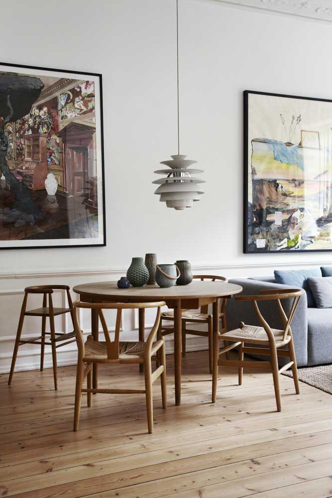 46. Decoration of dining room and being together: harmony in colors.