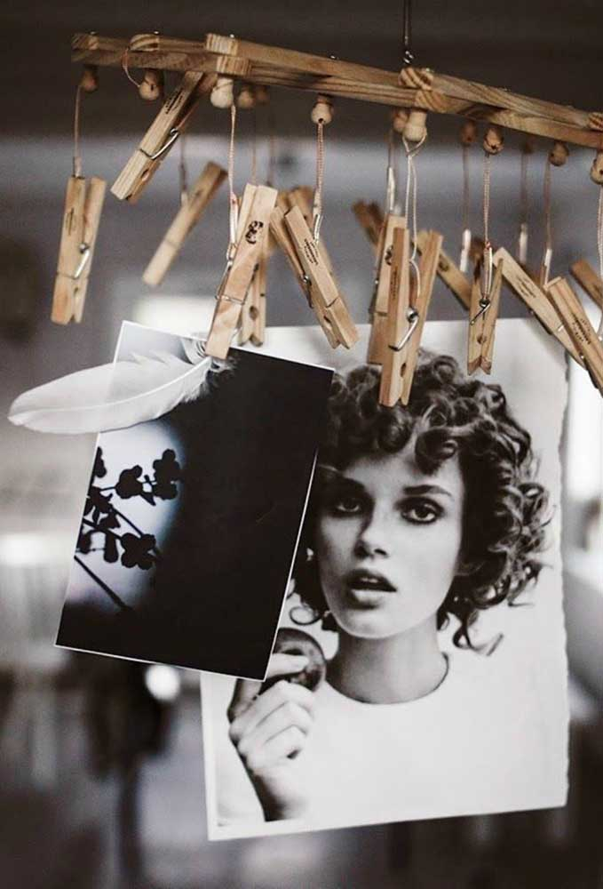 24. How about putting your photos on wooden pendants?