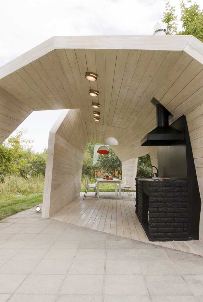 34. Incredible design in the leisure area with barbecue!