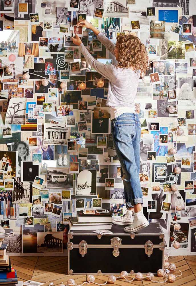 39. If you don't want anything organized, stick the pictures on the wall and see what will happen.