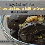 4-Ingredient Guilt-Free Dark Chocolate Banana Split Ice Cream