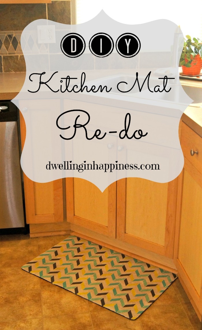 Mod Podge Kitchen Table Diy Kitchen Mat Redo Dwelling In Happiness