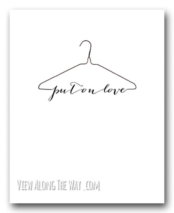 put_on_love_hanger_printable