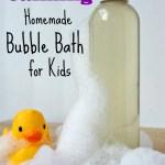Calming Homemade Bubble Bath for Kids