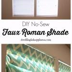 DIY No-Sew Faux Roman Shade