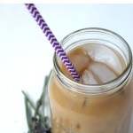Homemade White Chocolate Lavender Iced Coffee