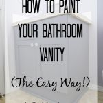 How to Paint Your Bathroom Vanity (The Easy Way!)