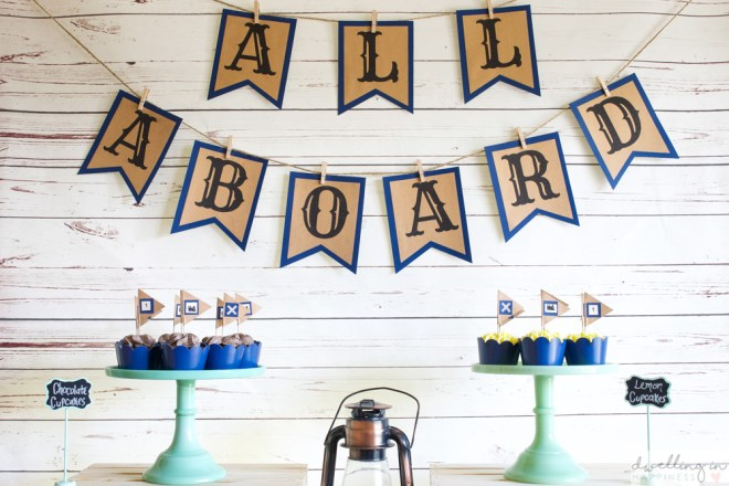 How to Throw a Vintage Train 1st Birthday Party / Dwelling in Happiness
