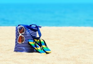 15605398 - beach accessories. concept of summer vacations.