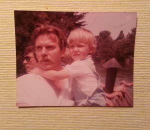 Justin and our son Charlie 1985
