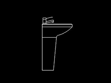 Lavabo  Lavamanos  Bloque de mueble Autocad 2d gratis
