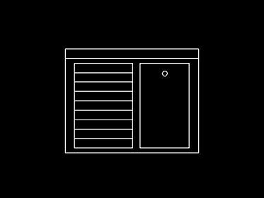 Lavadero  Bloque de mueble Autocad 2d gratis  DWGAutoCADcom