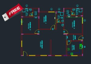 Single story small house plan free download