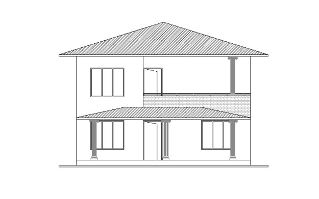 Double Story house plan 1001 01