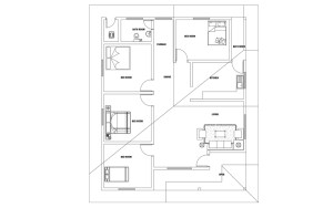 Single Story four bedroom house plan