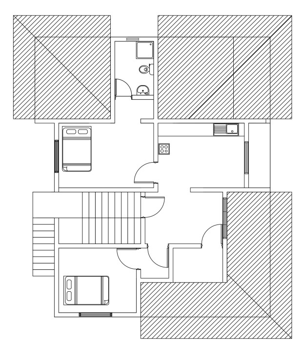 First floor plan of double story house plan