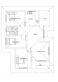 single story three bedroom house plan free downlod