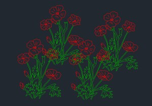 new Flowers Cad Block free download