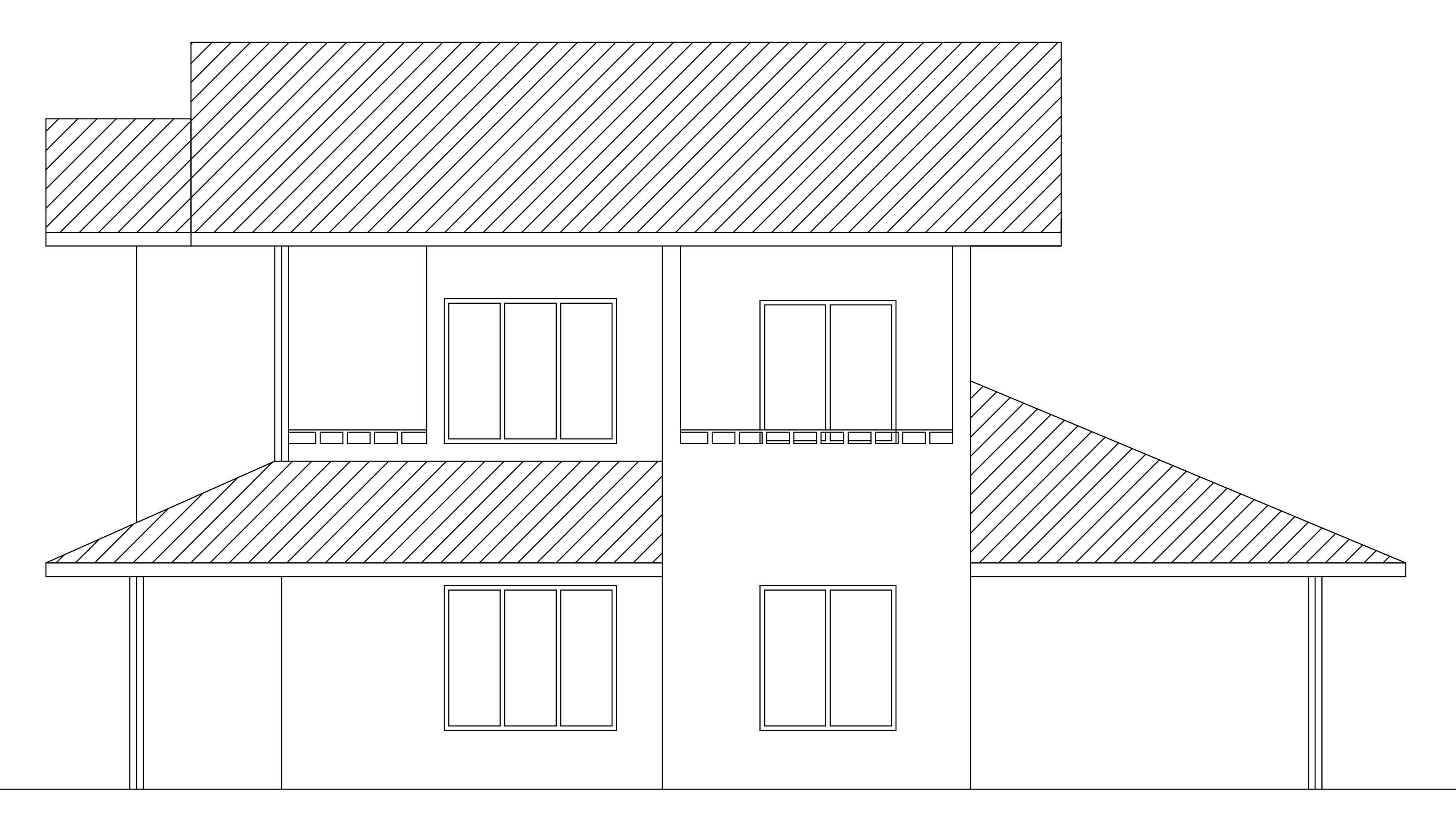 Single Floor Elevation Drawing : Double story house plan from dwgnet