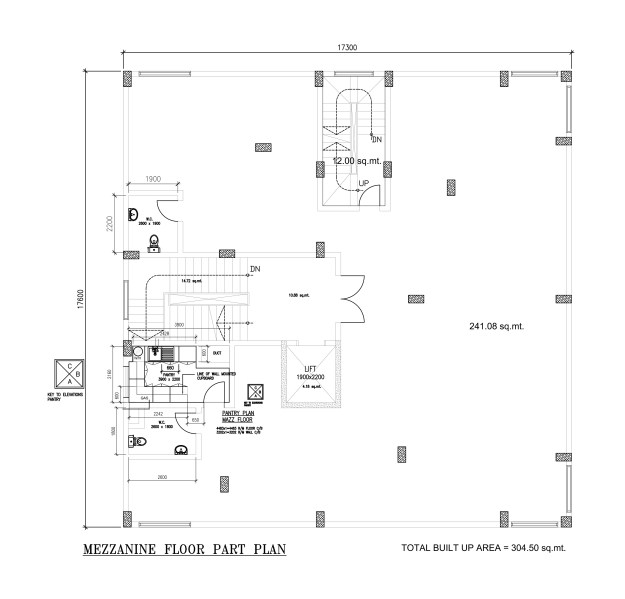 Three bedroom four flat house with basement, mezzanine and ground floor from dwgnet.com