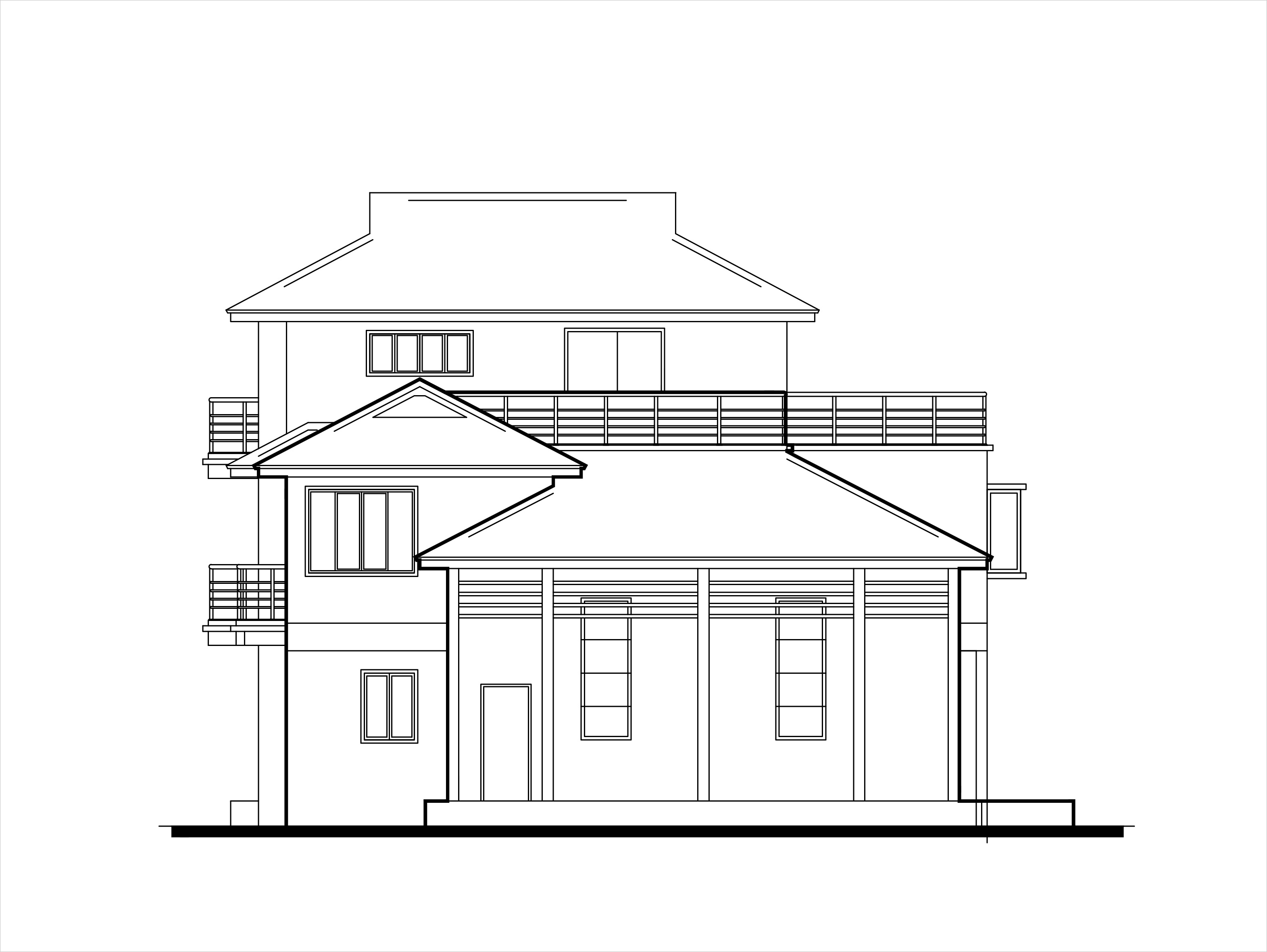 Elevation Plan In Autocad : Double story low cost house plans dwg net cad blocks