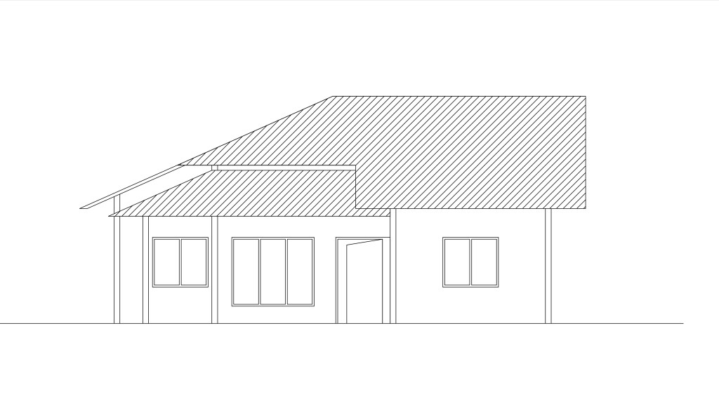 Front Elevation Cad Block : Two bedroom single story house plan dwg net cad blocks