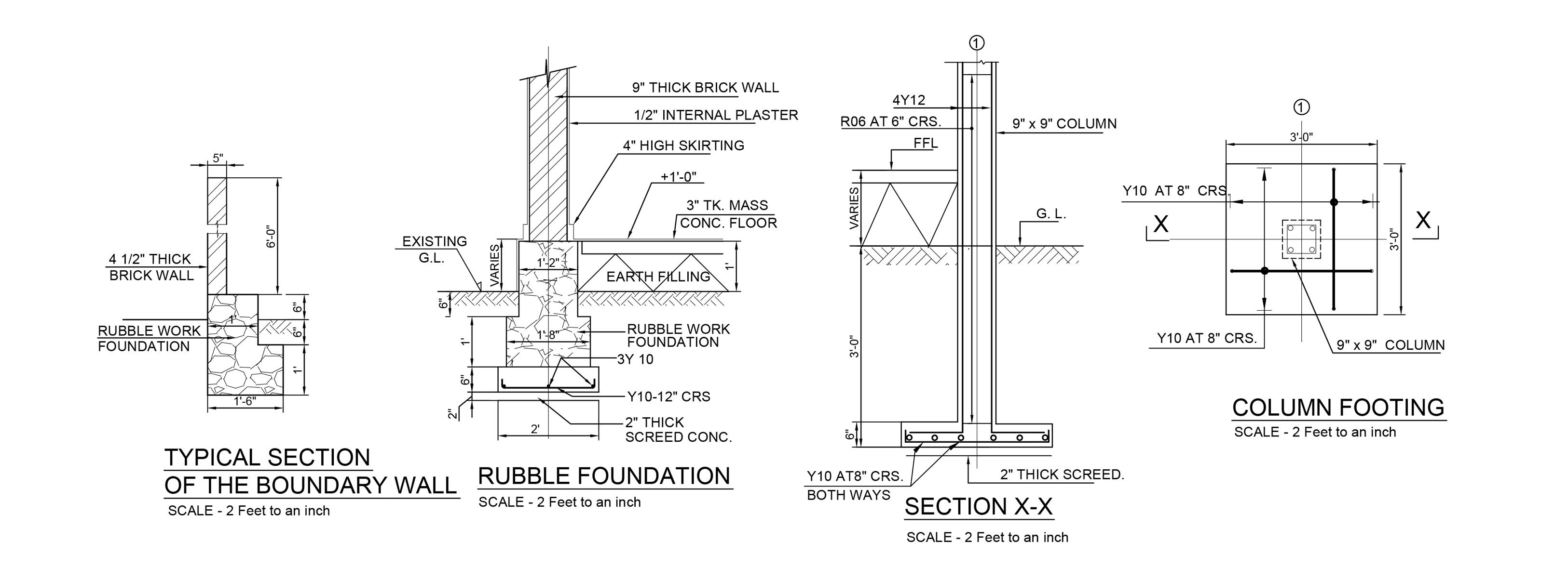 Foundation Footing Details