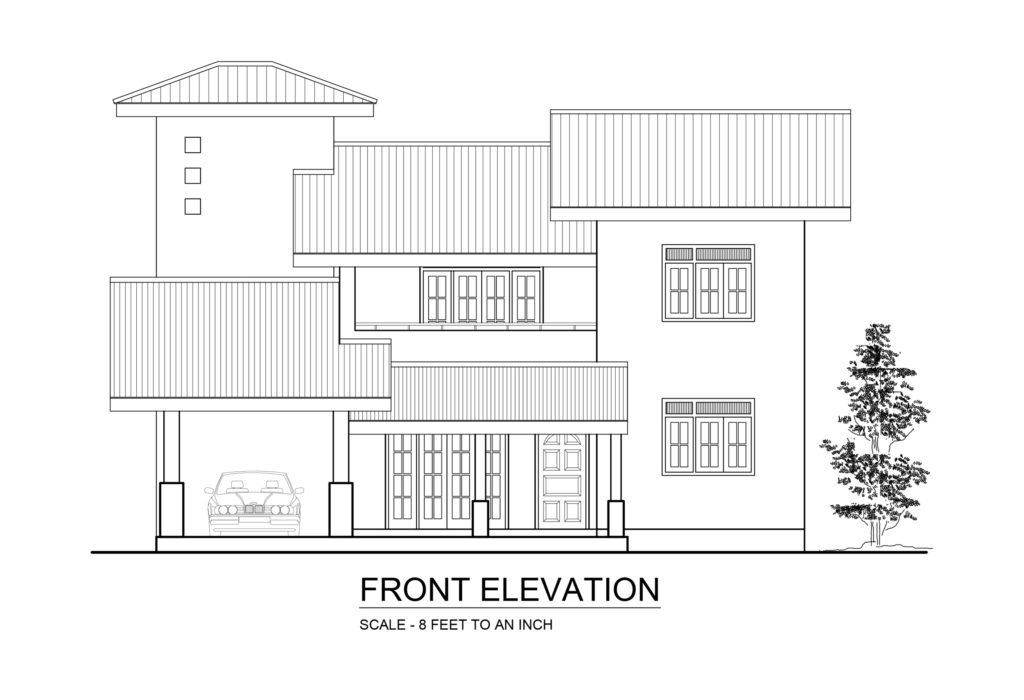 Front Elevation Autocad File Free Download : Dwg net cad blocks and house plan free download